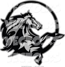 vector of a horse rearing up grayscale design by chromaco 2040