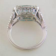 Blue Union Jack Cushion Doves London Blue Cushion Topaz Diamond Halo Rectangular Ring