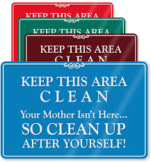 keep kitchen clean keep this area clean sign se 5964 png 745纓800 signs and
