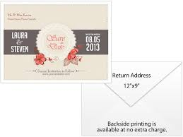 save the date envelopes personalized wedding save the date envelope 12 x 9 printed white