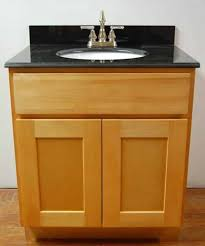 natural shaker bamboo bathroom cabinets with black top bamboo