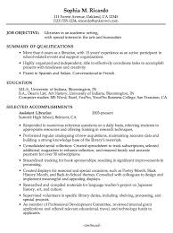 Resume For Library Assistant Job by Ingenious Academic Resume Examples 5 Example For An Librarian Cv