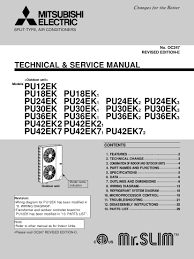 mitsubishi electric air conditioning control manual air