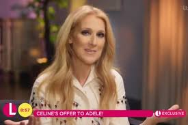 Selin Dion Celine Dion Sings Request For Duet With Adele London Evening
