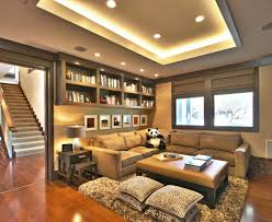 contemporary family room innovative designs good looking basement