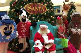 santa claus arrives at the meadowbrook mall this saturday the