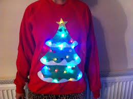 christmas jumper lights up christmas lights card and decore