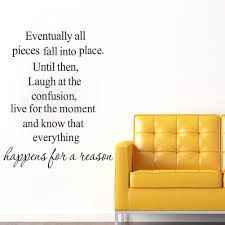 english quote everything happens for a reason art wall sticker