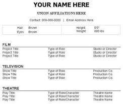 theatre resume theatre resume template berathen