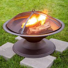 lowes wood burning fire pits lighting ideas for outdoor living