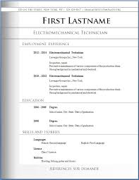 Resume Templates Word Format Downloadable Resume Templates Word 85 Free Resume Templates Free