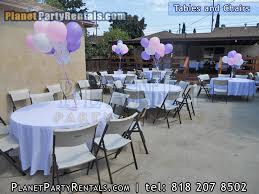 Table Cover Rentals Party Table Rentals In San Fernando Valley Round Table And Chairs