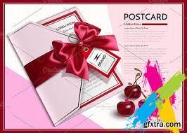 creativemarket vector realistic postcard template 2020211