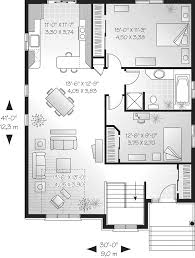 Ranch Home Plans With Basements Clarita Narrow Lot Ranch Home Plan 032d 0414 House Plans And More