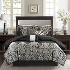 King Black Comforter Set Park Vanessa Comforter Set Queen Black U0026 Grey