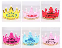 happy birthday hat hot crown led happy birthday cap for children colorful hat