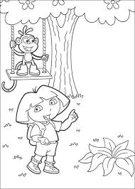 dora boots coloring pages hellokids