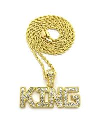 free gold necklace images 14k king ice fully iced out pendant w free 36 quot gold rope chain jpg