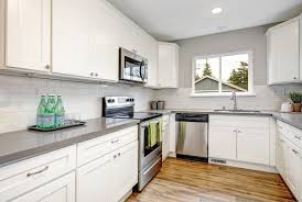 gray kitchen countertops with white cabinets best quartz countertops to pair with white cabinets pro