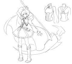rooster teeth productions presents rwby concept art by ein lee