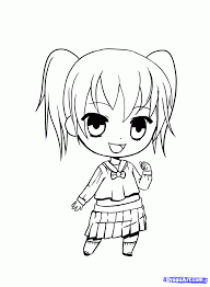 anime chibi drawn chibi pencil and in color drawn chibi