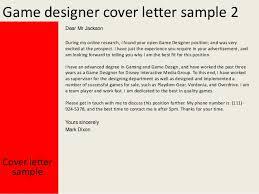 game designer cover letter
