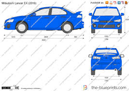 mitsubishi lancer ex 2017 the blueprints com vector drawing mitsubishi lancer ex
