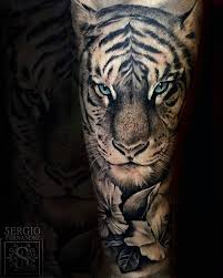 collection of 25 forest tiger sleeve tattoos
