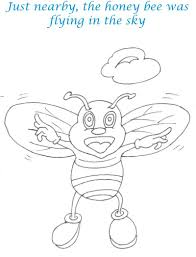 bee and dove story coloring page for kids 17