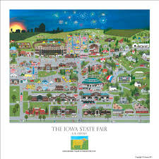 Iowa Map Usa by The Iowa State Fair