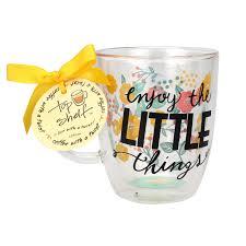 Best Ceramic Mugs Enjoy The Little Things Double Wall Mug Top Shelf Glasses