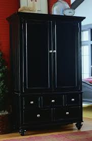 Black Armoire Breathtaking Black Clothing Armoire 65 For Your Best Interior With