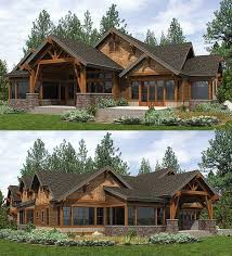 house plans with outdoor living space plan 23610jd high end mountain house plan with bunkroom