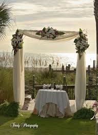 wedding arbor used ceremony arbor and fabric help