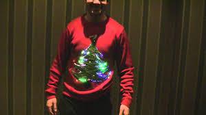 christmas tree jumper with lights christmas tree jumper with lights youtube