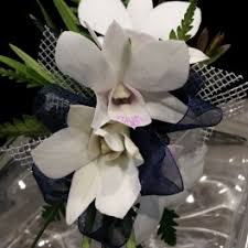 White Orchid Corsage Prom Flower Delivery In Newton The Crimson Petal Inc