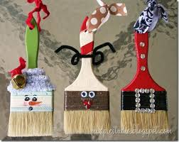 mud pie studio paintbrush ornaments