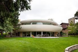 dick clark flintstone house photos park ridge s modernistic flintstones house