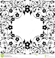 floral ornament on white background stock images image 30825404