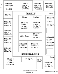 Commercial Office Floor Plans Cost Of Offices For Lease In Belgrade Mt Belgrade Ipark