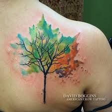 hmm maybe this one tattoos trees four seasons tattoos