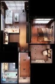 House And Floor Plan Apartamento Moderno Com 1 Quarto Smart Home Pinterest Tiny