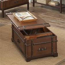 steamer trunk side table latitudes steamer trunk lift top coffee table i riverside furniture