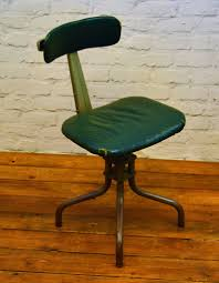 Antique Swivel Office Chair by Industrial Leabank Swivel Office Chair Leather Metal Vintage Retro