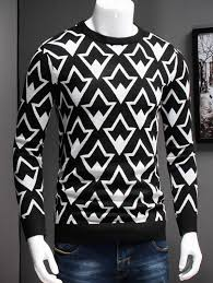 cardigans sweaters white 3xl plus size geometric graphic