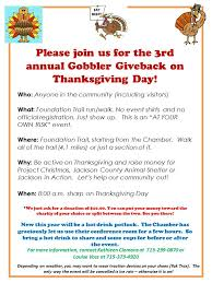 thanksgiving day gobbler give back jackson in