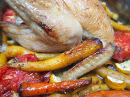 cuisiner un poulet plat équilibré et rapide à faire poulet fermier et légumes confits