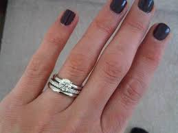 plain engagement ring with diamond wedding band your engagement ring and wedding band sets wedding wedding ring