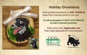 ornament fundraiser lucky rescue