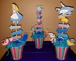 alice in wonderland centerpieces set of 3 by mythicalbynaomi on